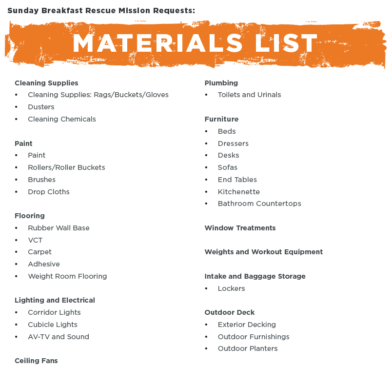 Material Lists
